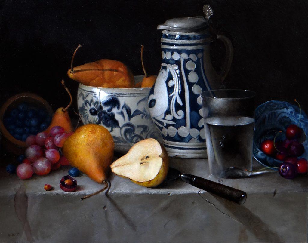 Fruit with 17th Century Ceramics